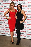 Catherine Tyldesley and Kym Marsh arriving for the Inside Soap Awards Launch Party at Rosso Restaurant, Manchester. 09/07/2012 Picture by: Steve Vas / Featureflash