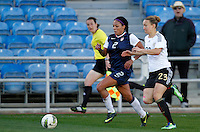 US's Sydney Leroux fights for the ball with Germany's Josephine Henning during their Algarve Women's Cup soccer match at Algarve stadium in Faro, March 13, 2013.  .Paulo Cordeiro/ISI