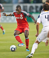 CARSON, CA – June 11, 2011: Toronto FC midfielder Tony Tchani (22) during the match between LA Galaxy and Toronto FC at the Home Depot Center in Carson, California. Final score LA Galaxy 2, Toronto FC 2.