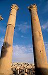 Jordan, Jerash. Columns at the Cardo, or colonnaded street&amp;#xA;<br />