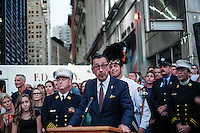 NEW YORK, NY - SEPTEMBER 11, 2016: FDNY Chief Daniel Nigro talks to the public during the 15th anniversary of the 9/11 attacks on September 11, 2016 in New York. Photo by (VIEWpress/Maite H. Mateo)