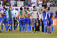 Guatemala  National Team at the end of the game.    Mexico defeated Guatemala 2-1 in the quaterfinals for the 2011 CONCACAF Gold Cup , at the New Meadowlands Stadium, Saturday June 18, 2011.