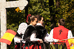 The Hispanic Parade in New York City. A kids representing Spain in the Hispanic Parade in New York City.