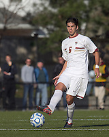 Boston College midfielder Steve Rose (6) passes the ball.  Rutgers University defeated Boston College in penalty kicks after two overtime periods in NCAA Division I tournament action, at Newton Campus Field, November 20, 2011.
