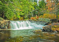 A waterfall just downstream from the outflow of Ricker Pond in Groton VT