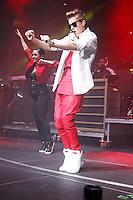 Justin Bieber performing at Q 102's