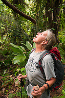Caves Branch, Belize, May 2012. We are in pristine jungle with local bushmen guides, Learning many of the secrets that the jungle holds: natural medicines, herbs, barks and many plants that are still used today by natural healers throughout Central America. The guides teach us how to build a shelter and how to gather food. Adventure is what Ian Anderson's Caves Branch is all about. Over the years, the Caves Branch jungle lodge has evolved from extremely rustic Jungle River Camp with outhouses and bathing in the river to 5 Star Luxury Tree Houses with roof top decks and hot tubs to relax under the stars above. Photo by Frits Meyst/Adventure4ever.com