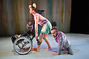 London, UK. 13.05.2014. StopGap Dance Company present ARTIFICIAL THINGS as part of the =dance strand in the Lilian Baylis Studio, at Sadler's Wells. Picture shows: Amy Butler and David Toole (front) with Chris Pavia (behind). Photograph © Jane Hobson.