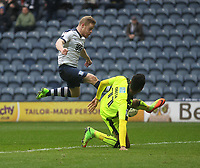 Preston North End's Daryl Horgan scores his sides second goal <br /> <br /> Photographer Mick Walker/CameraSport<br /> <br /> The EFL Sky Bet Championship - Preston North End v Reading - Saturday 11th March 2017 - Deepdale - Preston<br /> <br /> World Copyright &copy; 2017 CameraSport. All rights reserved. 43 Linden Ave. Countesthorpe. Leicester. England. LE8 5PG - Tel: +44 (0) 116 277 4147 - admin@camerasport.com - www.camerasport.com