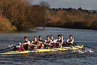 002 OXB / OBU Oxford Brookes. Wallingford Head of the River. Sunday 27 November 2011. 4250 metres upstream on the Thames from Moulsford railway bridge to Oxford Universitiy's Fleming Boathouse in Wallingford. Event run by Wallingford Rowing Club..