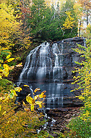 Lower Hungarian Falls during the autumn season. Hubbell, MI - Keweenaw Peninsula