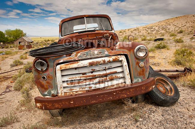 Abandoned truck in the Blue Eagle Ranch boneyard, Nev.
