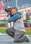 7 October 2016: MLB Photographer Rob Tringali works batting practice prior to the first game of the NLDS between the Washington Nationals and the Los Angeles Dodgers at Nationals Park in Washington, DC. The Dodgers edged out the Nationals 4-3 to take the opening game of their best-of-five series. Mandatory Credit: Ed Wolfstein Photo *** RAW (NEF) Image File Available ***