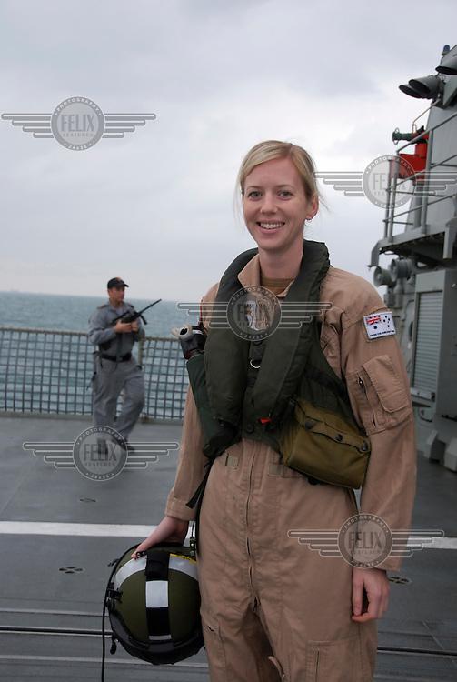 Lieutenant Helen Anderson is a helicopter observer in the Australian Navy, aboard HMAS Arunta.