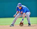 10 March 2012: New York Mets infielder Wilmer Flores warms up prior to a Spring Training game against the Washington Nationals at Space Coast Stadium in Viera, Florida. The Nationals defeated the Mets 8-2 in Grapefruit League play. Mandatory Credit: Ed Wolfstein Photo