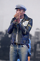 JUN 27 Pharrell Williams performs live on the Pyramid stage during the second day of the Glastonbury