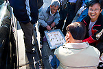 California: Chinatown San Francisco. Men playing board game on Grant Ave. Photo #: chinatown-san-francisco-17-casanf79366. Photo copyright Lee Foster.