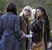 NEW YORK, NY November 07:Sandra Bullock, Cate Blanchett, Rihanna, shooting on location for Ocean 8 in Central Park New York .November 07, 2016. Credit:RW/MediaPunch