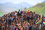 QANDIL, IRAQ: Kurds celebrate Newroz in the PKK controlled area of Qandil in the north of Iraqi Kurdistan...On March 21st 2013, during the Kurdish new year festival of Newroz, jailed PKK (Kurdish Workers Party) leader Abdullah Ocalan released a statement calling on the PKK to cease hostilities and withdraw from Turkey back to northern Iraq...Photo by Aral Kakl/Metrography