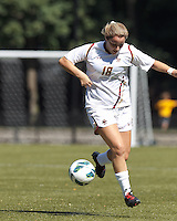 Boston College midfielder Patrice Vettori (18) collects a pass. Virginia Tech (maroon) defeated Boston College (white), 1-0, at Newton Soccer Field, on September 22, 2013.