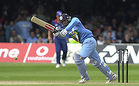 .29/06/2002.Sport - Cricket - .NatWest triangler Series England - Sri Lanka - India.England vs india 50 overs.  Lord's ground.Rahul Dravid -  Rahul striking the match winning run's..