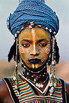 AFRICA-10015, Young Wodaabe Man, Tahoua, Niger, 1986, NIGER-10003<br />