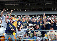 Pitt fans sing 'Sweet Caroline' at the end of the third quarter. The Pittsburgh Panthers defeat the New Hampshire Wildcats 38-16 at Heinz Field, Pittsburgh Pennsylvania on September 11, 2010.