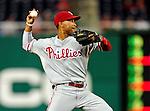 27 September 2010: Philadelphia Phillies' infielder Wilson Valdez in action against the Washington Nationals at Nationals Park in Washington, DC. Mandatory Credit: Ed Wolfstein Photo