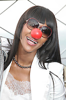 MAY 24 Naomi Campbell Lights The Empire State Building In Honor Of Red Nose Day