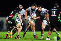 Charlie Ewels of Bath Rugby in possession. European Rugby Challenge Cup match, between Pau (Section Paloise) and Bath Rugby on October 15, 2016 at the Stade du Hameau in Pau, France. Photo by: Patrick Khachfe / Onside Images