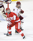 Marie-Philip Poulin (BU - 29), Katelyn Kurth (BC - 14) - The visiting Boston University Terriers defeated the Boston College Eagles 1-0 on Sunday, November 21, 2010, at Conte Forum in Chestnut Hill, Massachusetts.