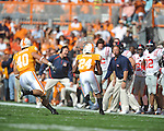 Tennessee defensive back Eric Gordon (24) intercepts a pass and returns it for a touchdown in a college football game at Neyland Stadium in Knoxville, Tenn. on Saturday, November 13, 2010. Tennessee won 52-14.