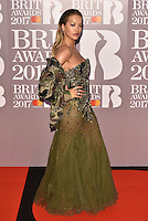 Rita Ora<br /> The Brit Awards at the o2 Arena, Greenwich, London, England on February 22, 2017.<br /> CAP/PL<br /> &copy;Phil Loftus/Capital Pictures /MediaPunch ***NORTH AND SOUTH AMERICAS ONLY***
