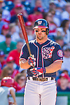 23 May 2015: Washington Nationals infielder Dan Uggla in action against the Philadelphia Phillies at Nationals Park in Washington, DC. The Phillies defeated the Nationals 8-1 in the second game of their 3-game weekend series. Mandatory Credit: Ed Wolfstein Photo *** RAW (NEF) Image File Available ***