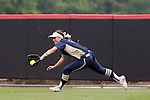 12 May 2016: Pitt's Taylor Myers. The Florida State University Seminoles played the University of Pittsburgh Panthers at Dail Softball Stadium in Raleigh, North Carolina in a 2016 Atlantic Coast Conference Softball Tournament quarterfinal game. Florida State won the game 8-0 by run rule with one out in the bottom of the sixth inning.