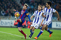 Match ofLa Liga, between Real Sociedad and Futbol Club Barcelona