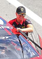 Jun 18, 2016; Bristol, TN, USA; NHRA pro stock driver Erica Enders-Stevens during qualifying for the Thunder Valley Nationals at Bristol Dragway. Mandatory Credit: Mark J. Rebilas-USA TODAY Sports