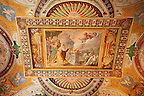 Room of Noah ( Sala di Noe ). The room was decorated with frescoes by Durante Alberti between 1570 and 1571 from drawings by Girolamo Muziano. The scenes depict Noah and the floods.  Villa d'Este, Tivoli, Italy. A UNESCO World Heritage Site.
