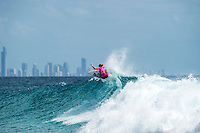 Snapper Rocks, COOLANGATTA, Queensland/AUS (Tuesday, March 15, 2016) Sage Erickson (USA) - The Quiksilver and Roxy Pro Gold Coast, the opening stop on the 2016  WSL Championship Tour recommenced at 7:35am this morning with men&rsquo;s and women&rsquo;s Round 4 and the women&rsquo;s Quarterfinals called on in clean three-to-five foot (1 - 1.5 metre) waves at Snapper Rocks.<br /> <br /> There was a break during the high tide with only two heats of the men's Round five not completed.<br /> <br />  .Photo: joliphotos.com
