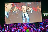 Parigi Bercy Manifestazione preelettorale di Hollande - Elezioni presidenziali 2012 Paris Bercy event of Hollande pre-election - Presidential elections 2012 ritratto