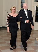 United States Senator Claire McCaskill (Democrat of Missouri) and Joseph Shepard arrive for the Official Dinner in honor of Prime Minister David Cameron of Great Britain and his wife, Samantha, at the White House in Washington, D.C. on Tuesday, March 14, 2012..Credit: Ron Sachs / CNP.(RESTRICTION: NO New York or New Jersey Newspapers or newspapers within a 75 mile radius of New York City)