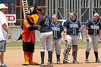 SAN ANTONIO, TX - APRIL 28, 2012: The Nicholls State University Colonels vs. The University of Texas at San Antonio Roadrunners Softball at Roadrunner Field. (Photo by Jeff Huehn)