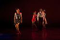 "London, UK. 29/02/2012. Ballet Back presents ""Storyville"", choreographed by Christopher Hampson, as part of ""The Ballet Black Mixed Bill featuring Storyville"". L to R: Sayaka Ichikawa, Cira Robinson, Joseph Poulton and Sarah Kundi. Photo credit: Jane Hobson"