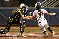 SAN ANTONIO, TX - FEBRUARY 14, 2014: The Wichita State University Shockers versus the University of Texas at San Antonio Roadrunners Softball at Roadrunner Field. (Photo by Jeff Huehn)