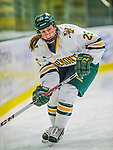 4 January 2014:  University of Vermont Catamount defender Megan Dalbec, a Senior from Champlin, MN, in action against the Syracuse University Orange, in non-conference play at Gutterson Fieldhouse in Burlington, Vermont. The Orange defeated the UVM Lady Cats 4-3 in their first ever NCAA meeting. Mandatory Credit: Ed Wolfstein Photo *** RAW (NEF) Image File Available ***