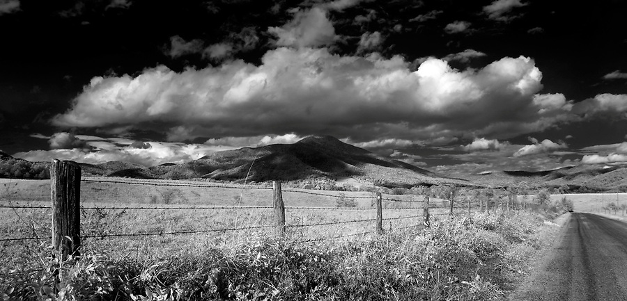 Clouds hover low over the Priest Mountain in Nelson County, VA. Photo/Andrew Shurtleff