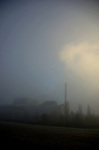 A Power station in the fog