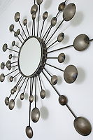 This 60's style sunburst mirror was commissioned from a local metalworker
