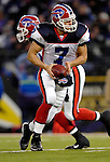 31 December 2006: Buffalo Bills quarterback J.P. Losman (7) in action during a game against the Baltimore Ravens at M&amp;T Bank Stadium in Baltimore, Maryland. The Ravens defeated the Bills 19-7. Mandatory Photo Credit: Ed Wolfstein Photo.<br />