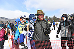 FRANCONIA, NH - MARCH 11:   Zane Fields of Colby College is met by his father after the Men's 20K Freestyle event at the Division I Men's and Women's Skiing Championships held at Jackson Ski Touring on March 11, 2017 in Jackson, New Hampshire. (Photo by Gil Talbot/NCAA Photos via Getty Images)